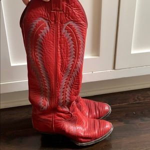 Justin red cowboy boots